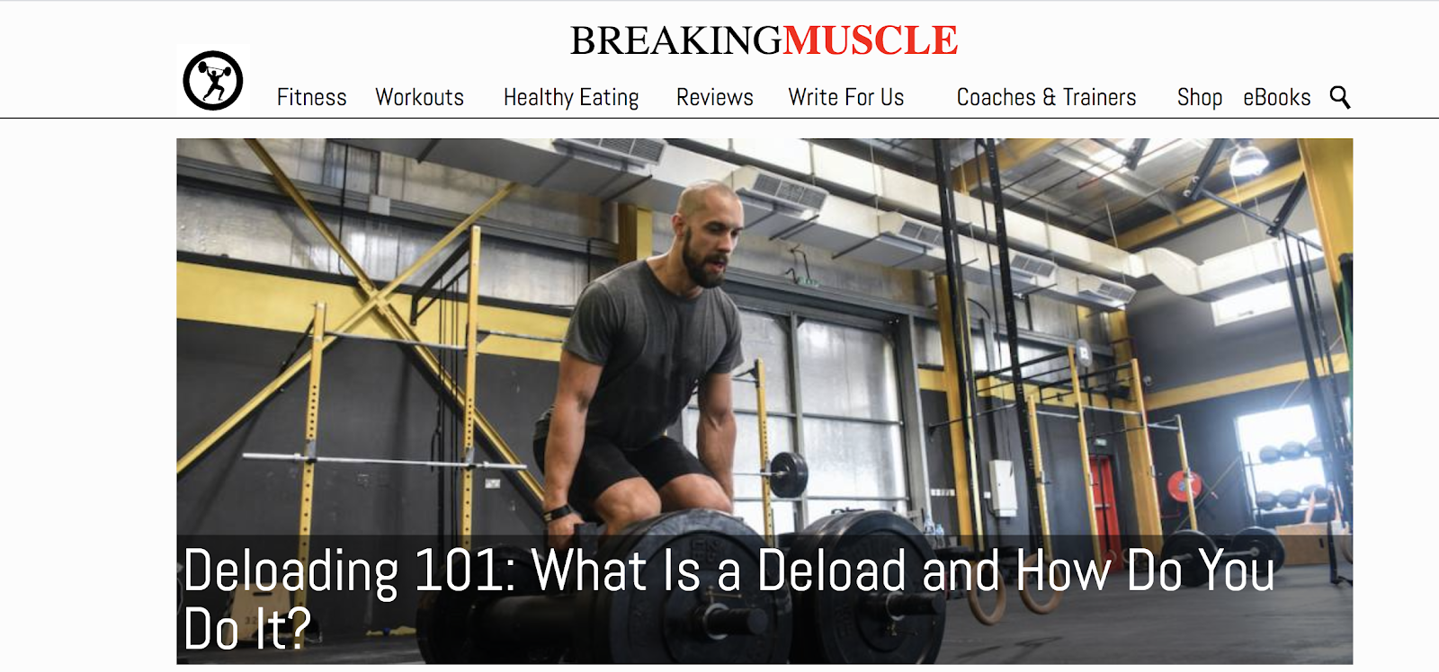 Breaking Muscle Example of How to Name a Blog Well (Screenshot)