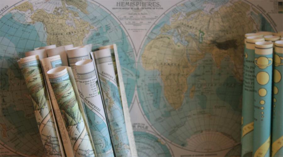 خرائط وتخطيط أول رحلة مدونة السفر