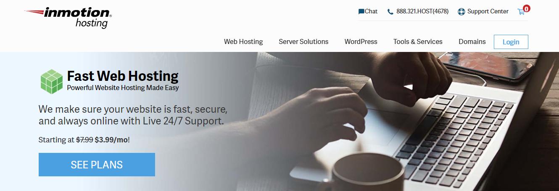 Immagine della homepage di InMotion