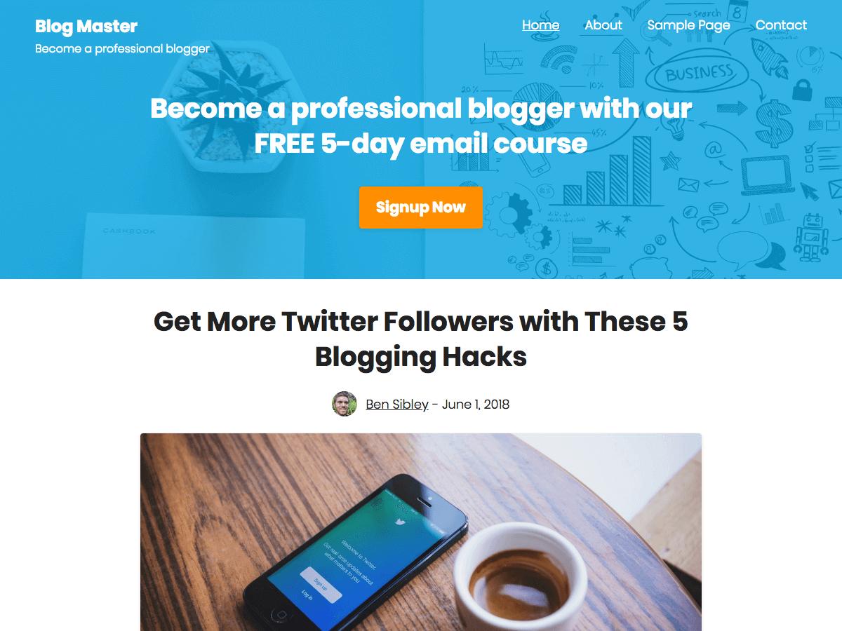 Challenger WordPress Themes for Bloggers (Screenshot of Theme)