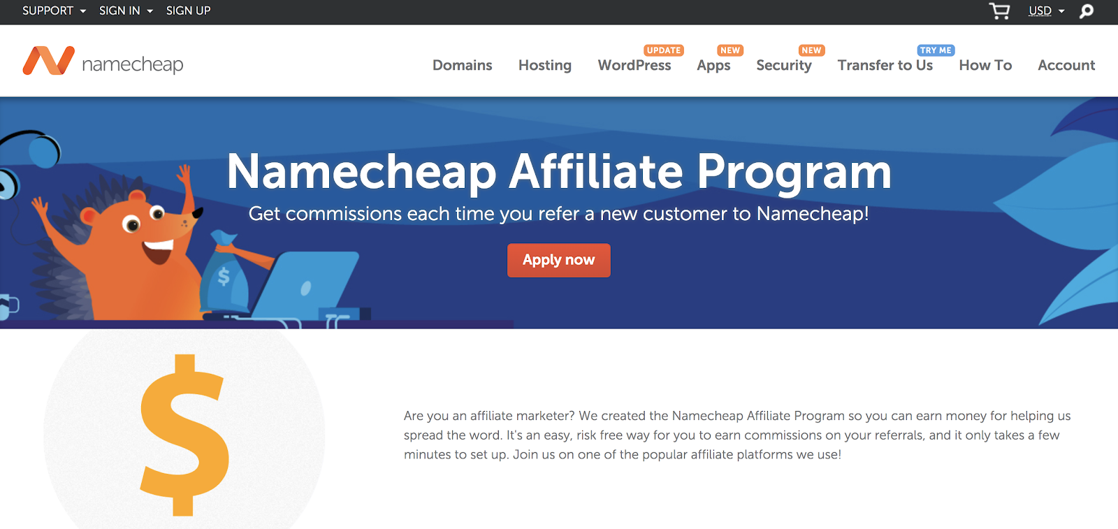 Namecheap Hosting Affiliate Program for Bloggers