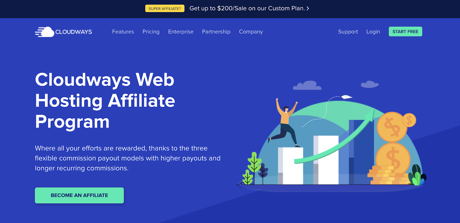 Cloudways Hosting Referral Program for Bloggers (Screenshot)