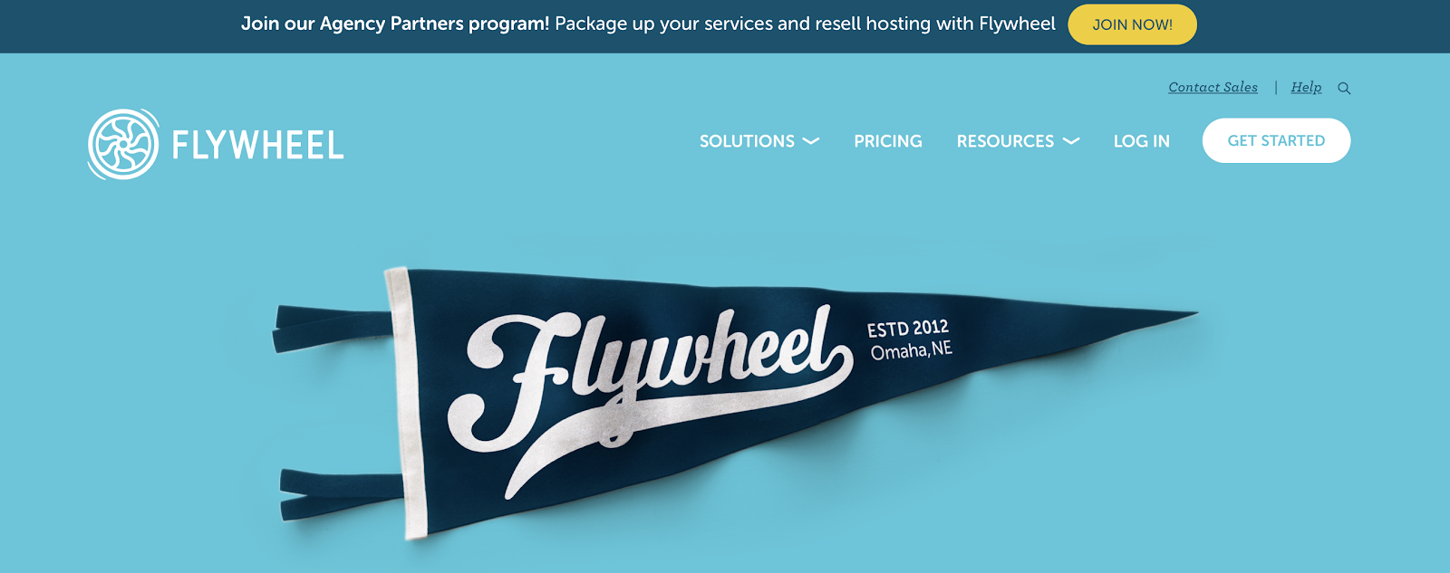 Flywheel Homepage Screenshot (Hosting Company)