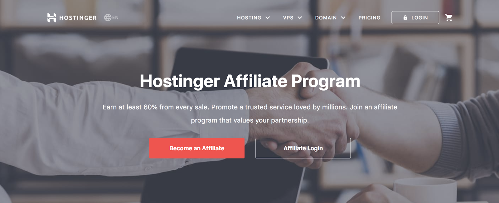 Honstinger's Affiliate Program Web Page Explainer (Screenshot)