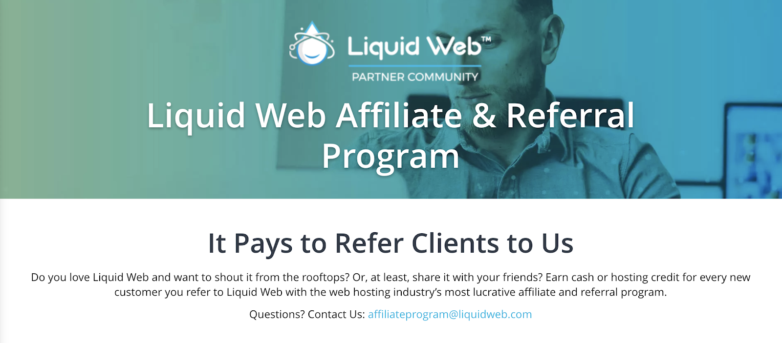 Liquid Web Affiliate Program Landing Page (Screenshot)