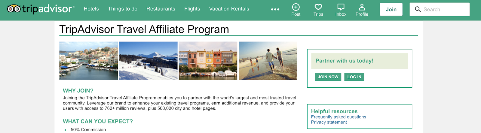 TripAdvisor Affiliate Program for Travel Niche Bloggers