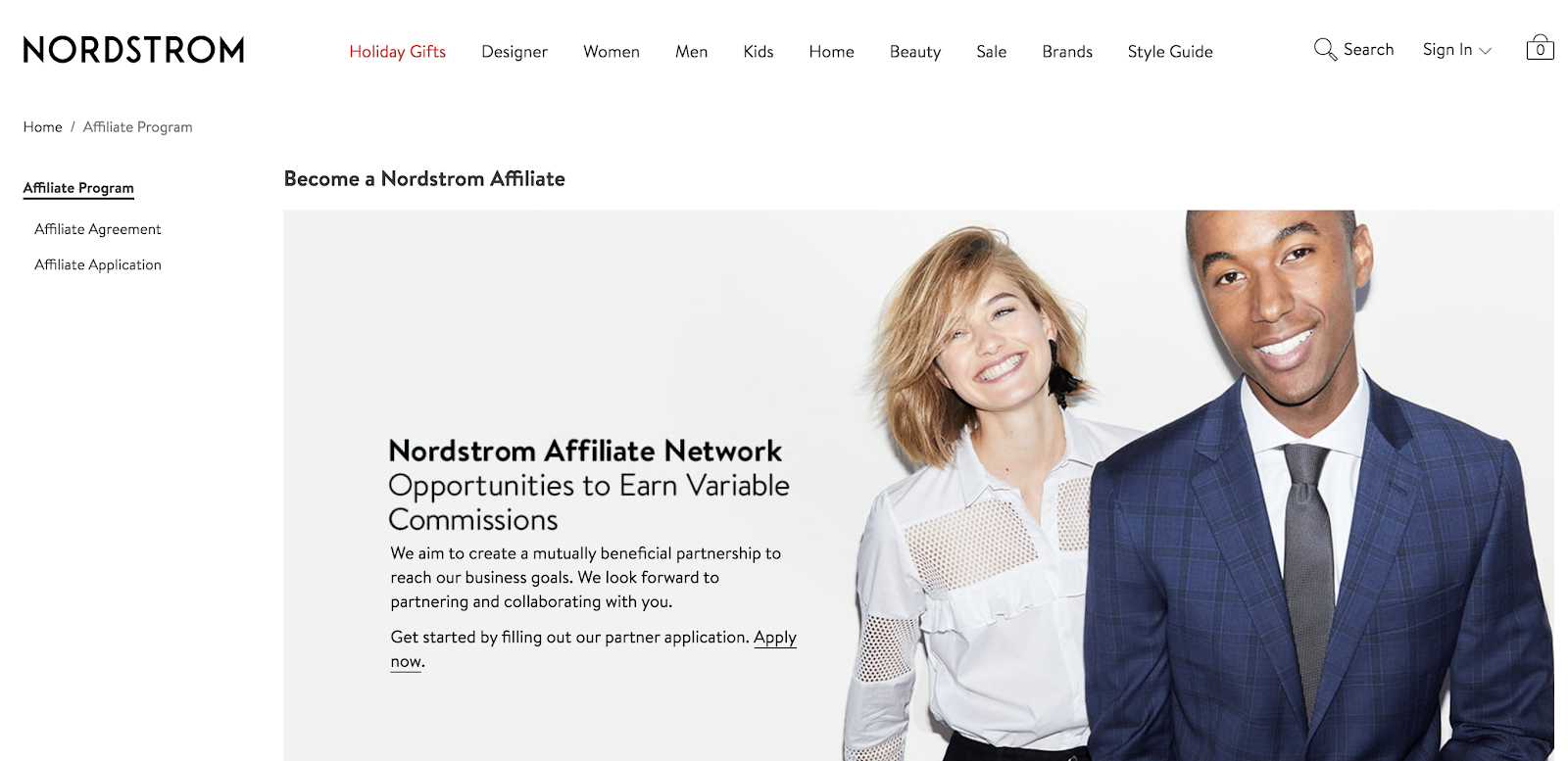Nordstrom Affiliate Network Explainer Image