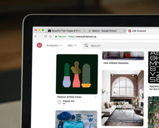 Pinterest Feed Screenshot (Example)