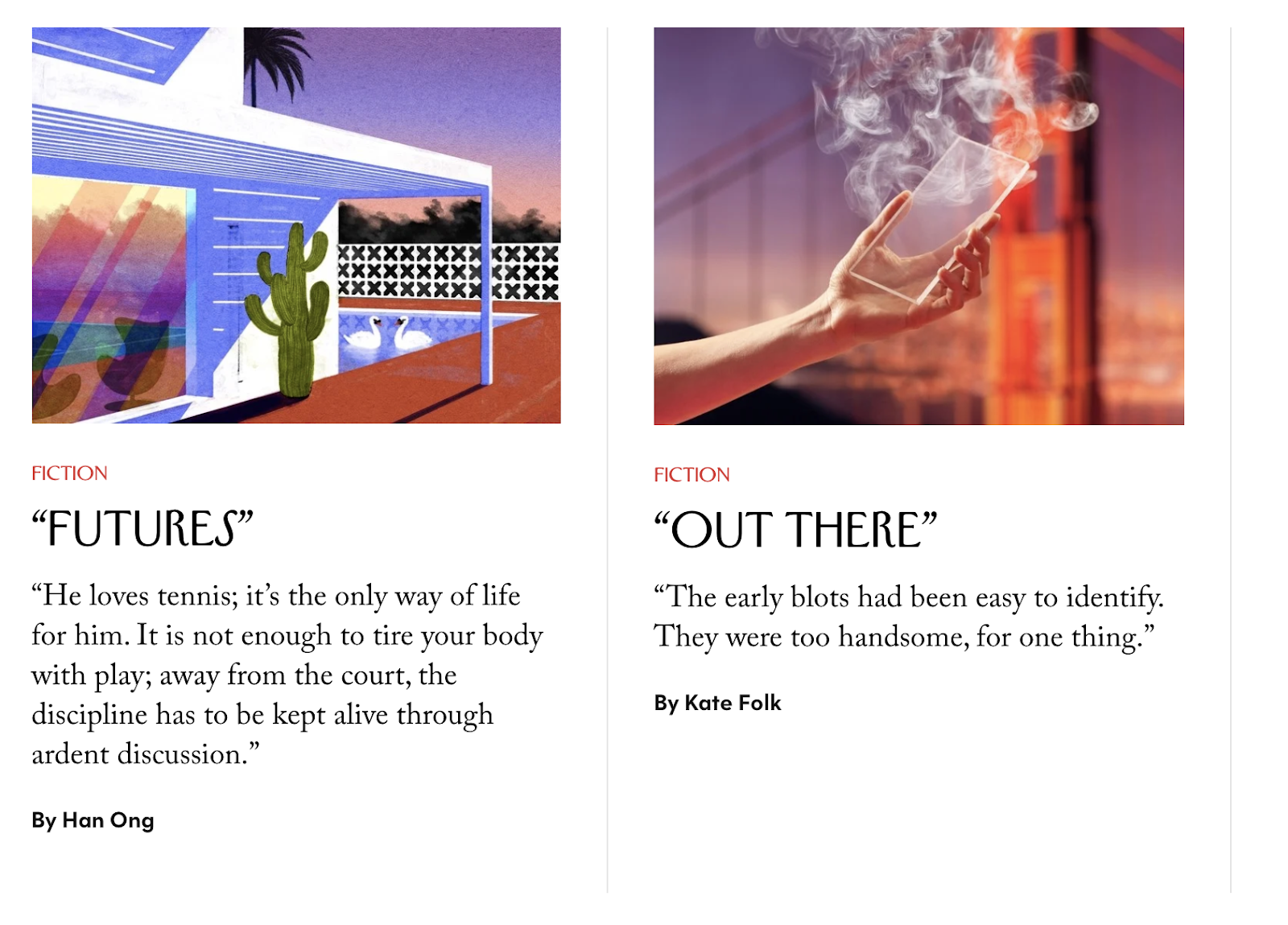 The New Yorker Story Examples and Typography Choices