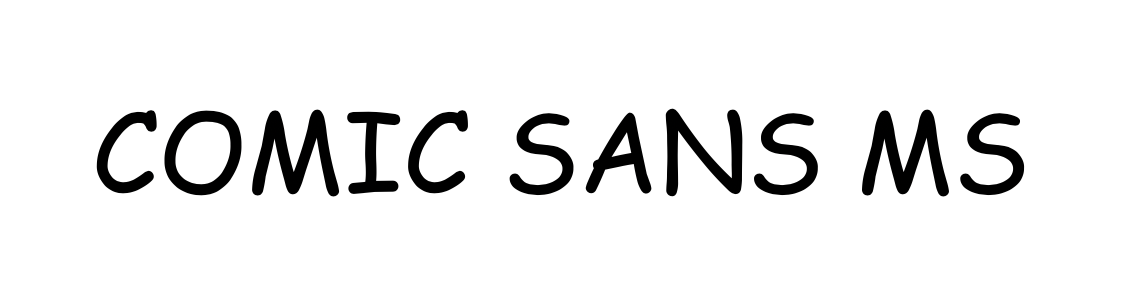 Screenshot of Comic Sans fonts (bad fonts for use in the design of your blog)