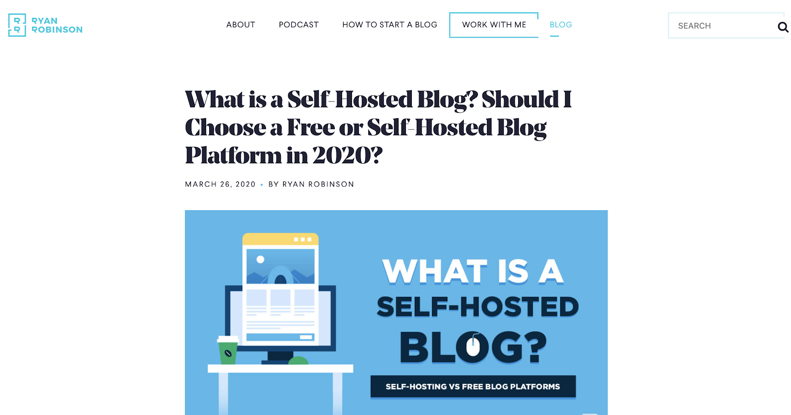 Blog Post Layout Example (on ryrob) Screenshot