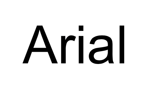 Screenshot of Arial font (good fonts to use in your blog markup)