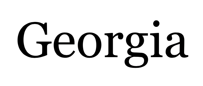 Georgia Fonts Screenshot (Good fonts to use in your blog design)