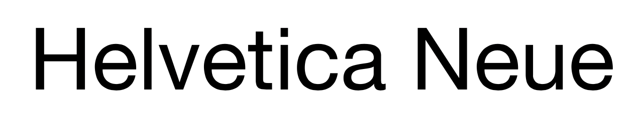 Screenshot of Helvetica Neue font (good fonts to use in your blog design)