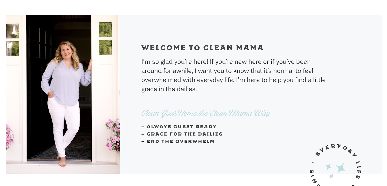 Clean Mama About the Author Screenshot