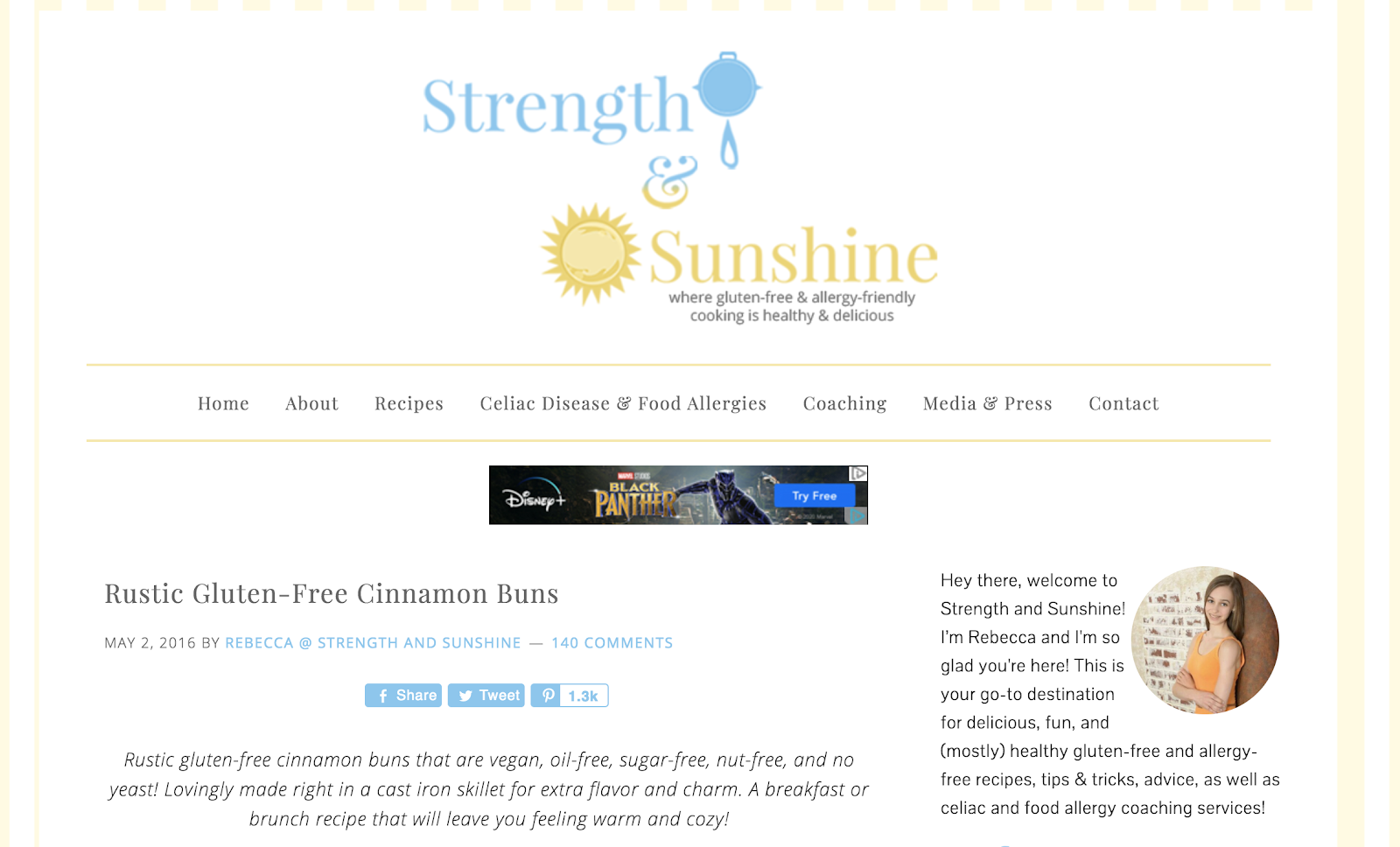 Power and sunlight home page (screenshots) and example