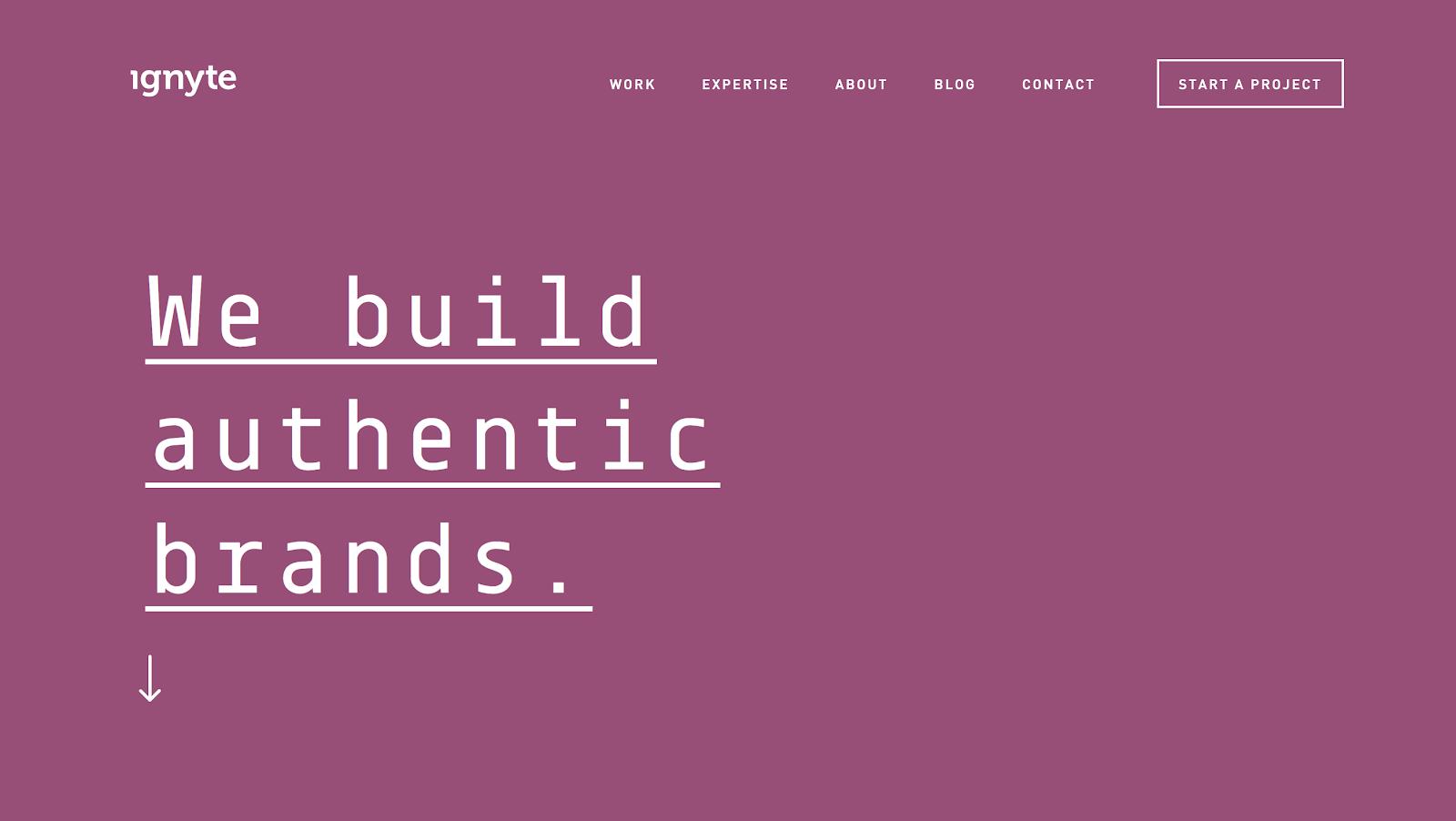 Ignyte Blog Color Scheme Example (Screenshot)