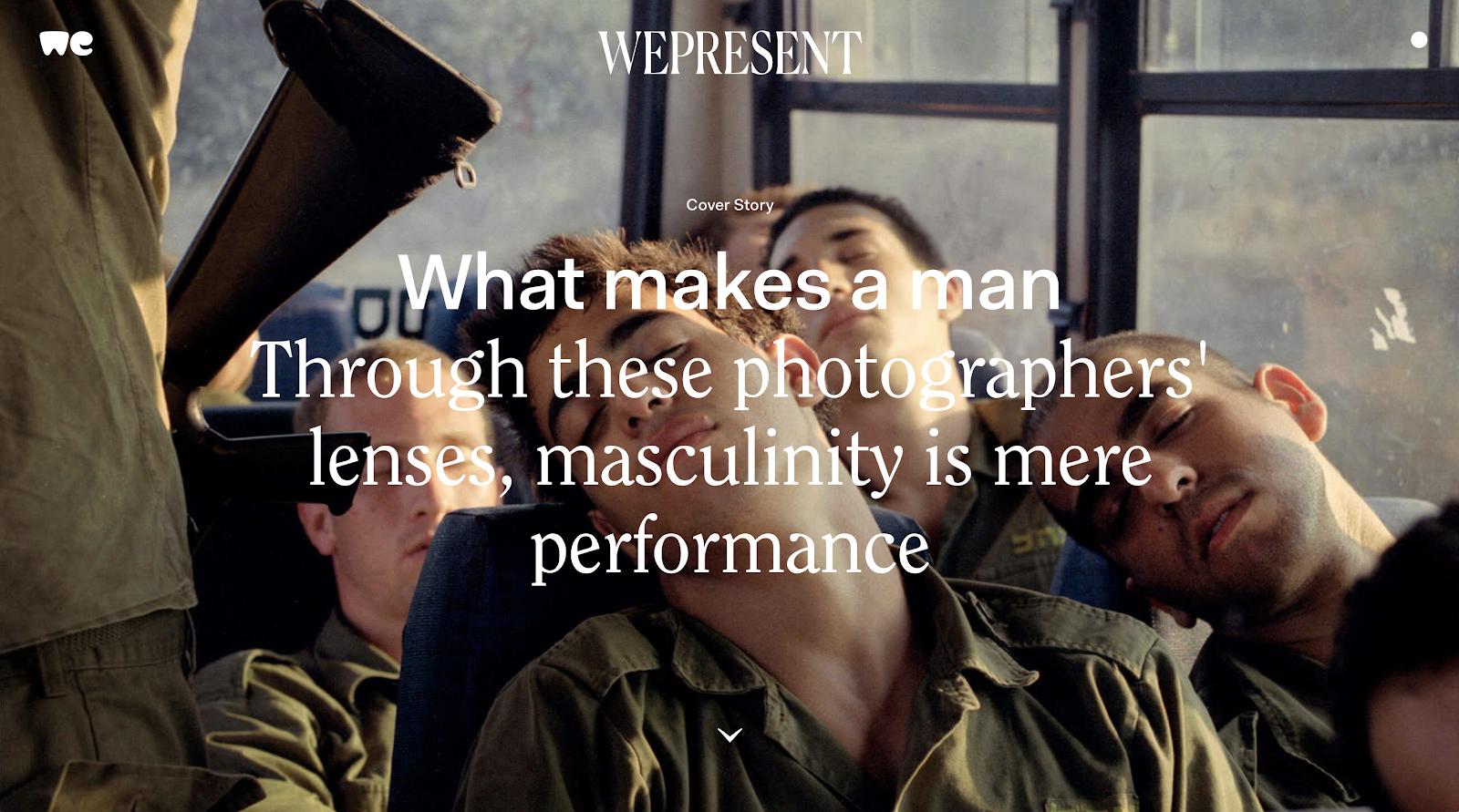 WePresent Homepage Screenshot (Blog Layout Examples)