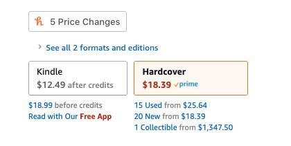 Amazon eBook Pricing Changes