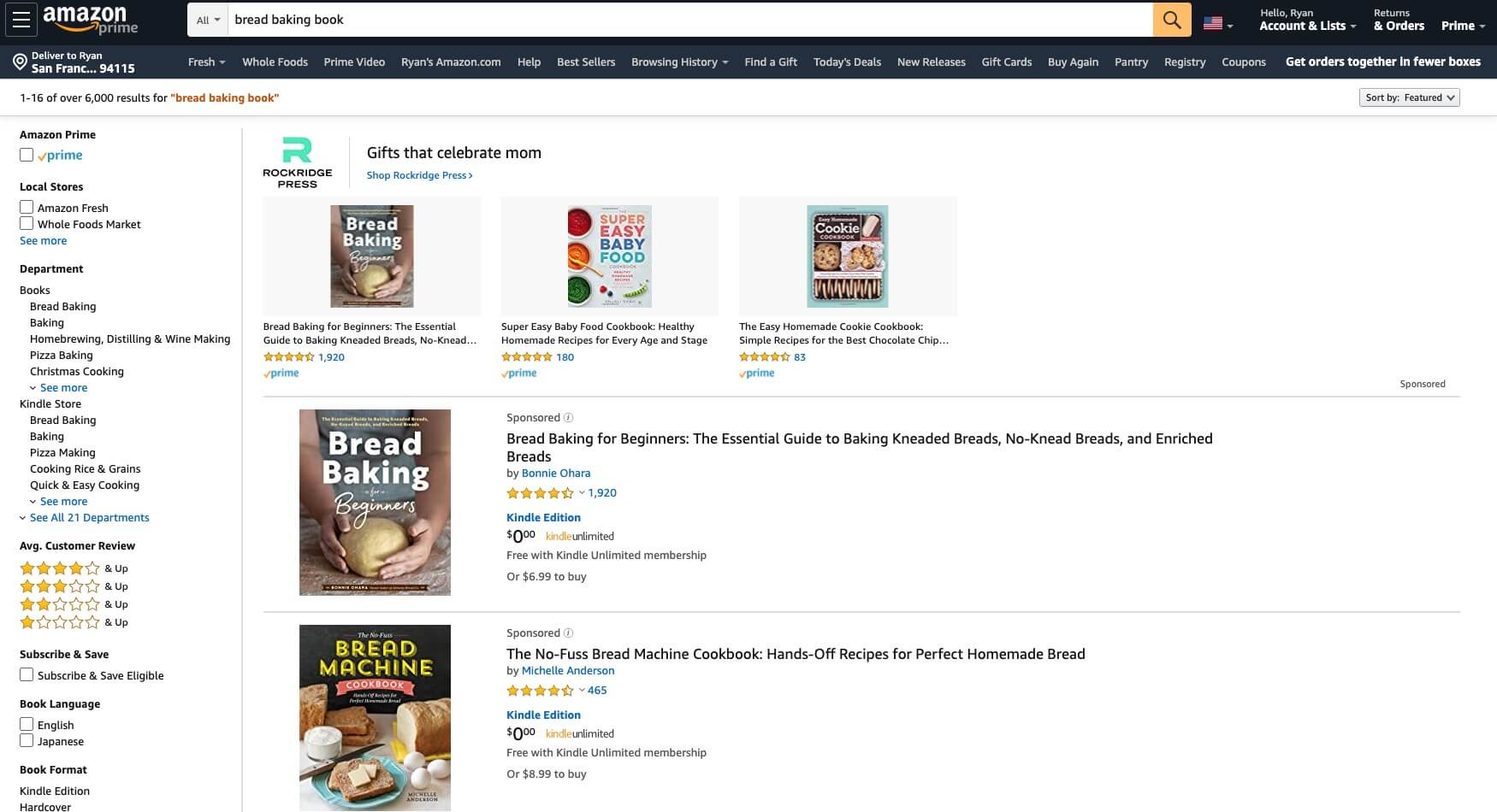 How to Sell an eBook on Amazon (Screenshot of Amazon Sales Page)