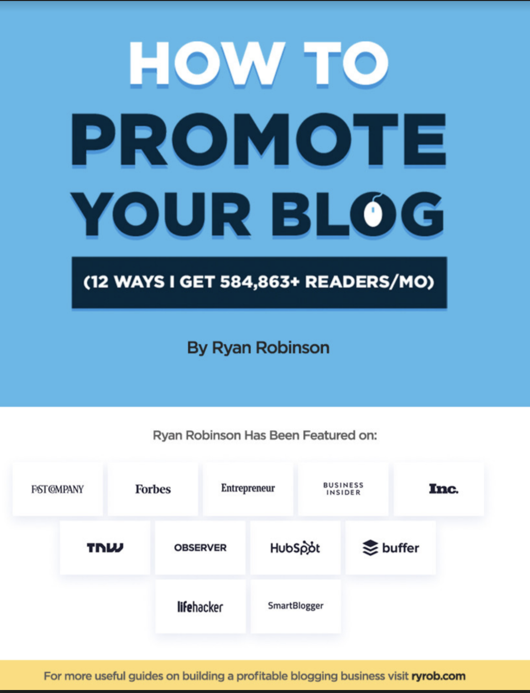 How to Promote Your Blog eBook Cover Example (Screenshot)