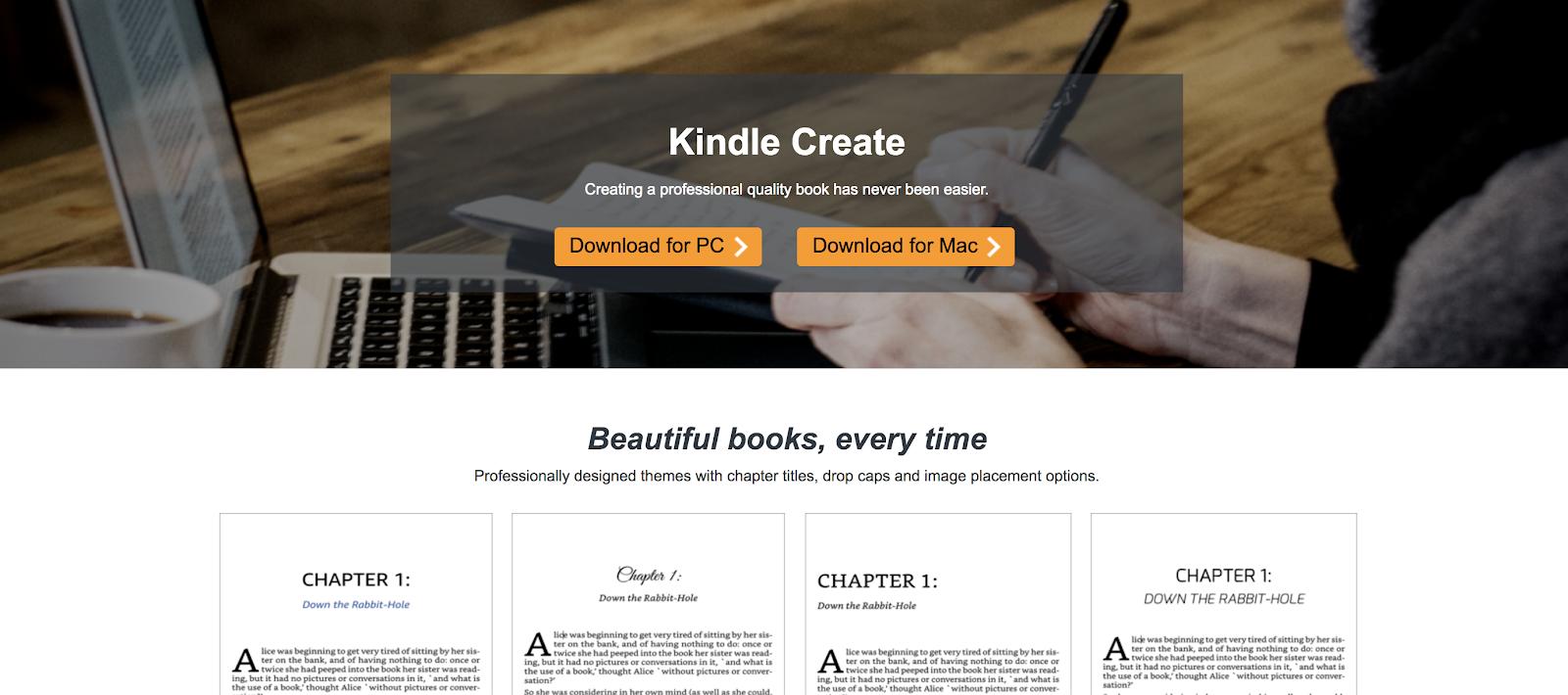 Amazon Kindle Create (eBook Publishing) Screenshot of Instructions