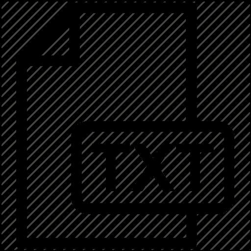 TXT File Format for eBooks (Logo)