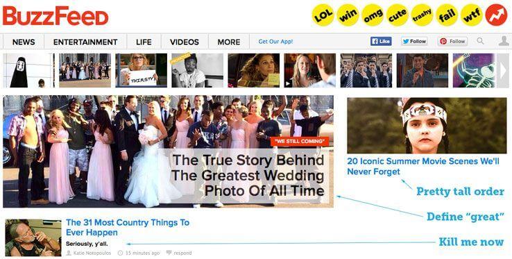 Bad Blog Headline Examples (Buzzfeed Clickbait Screenshot)