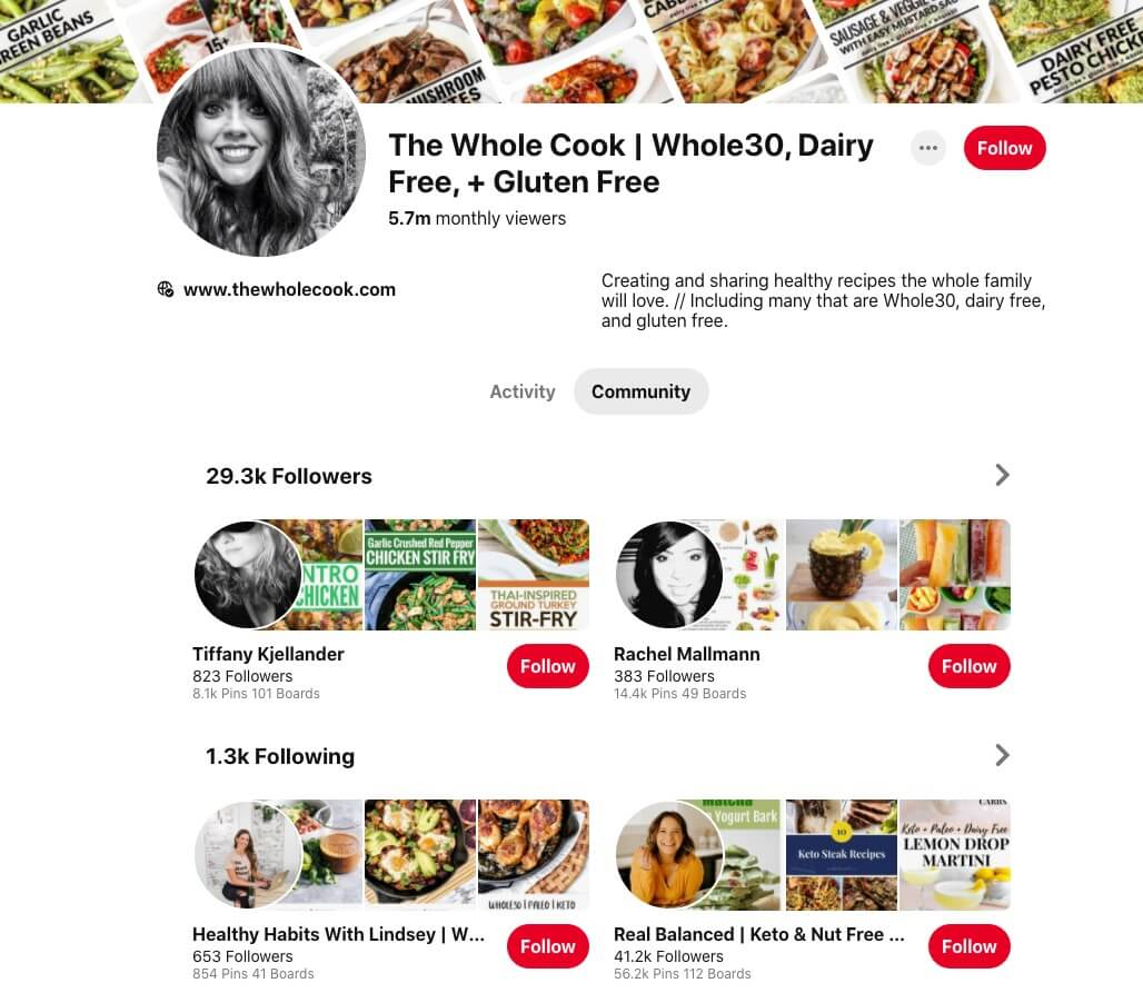 Example of Pinterest Profile Design (to Appeal to Your Target Audience)