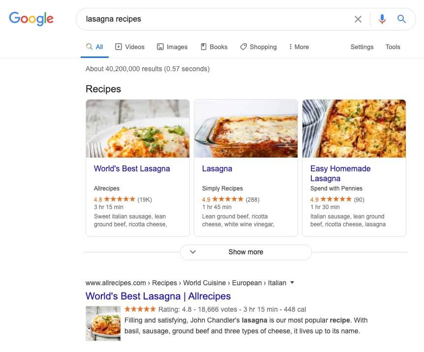 Google Search Result Screenshot (Example) of Finding Your Audience Online