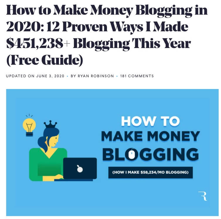 Як зарабіць грошы на блогі Скрыншот (прыклад лячэння блога)