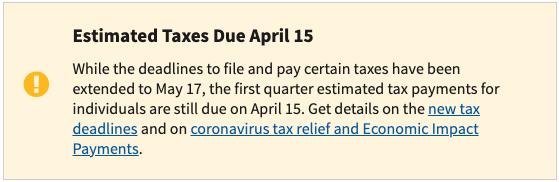 تغييرات الموعد النهائي لضريبة الدخل 2021 (لقطة شاشة)