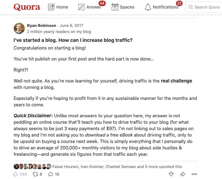 Quora as a Destination to Find Your Target Audience and Answer Their Questions