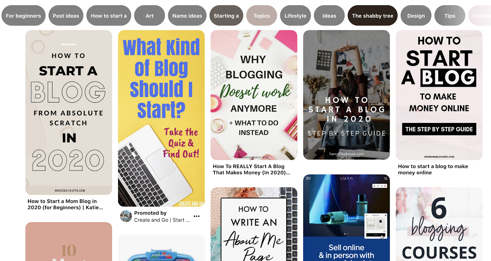 Using Pinterest to Find Your Blog Target Audience and Learn About Them (Pinterest Search Screenshot)