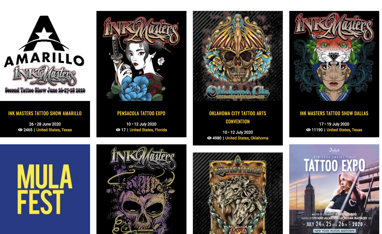 Attending Live Conferences to Meet with People in Your Target Audience (Tattoo Convention Example Screenshot)