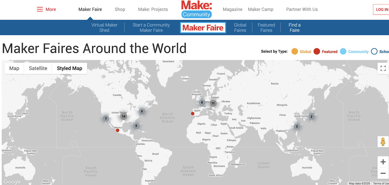 Maker Faire Events (Screenshot) to Meet Your Ideal Readers and Learn More About Them