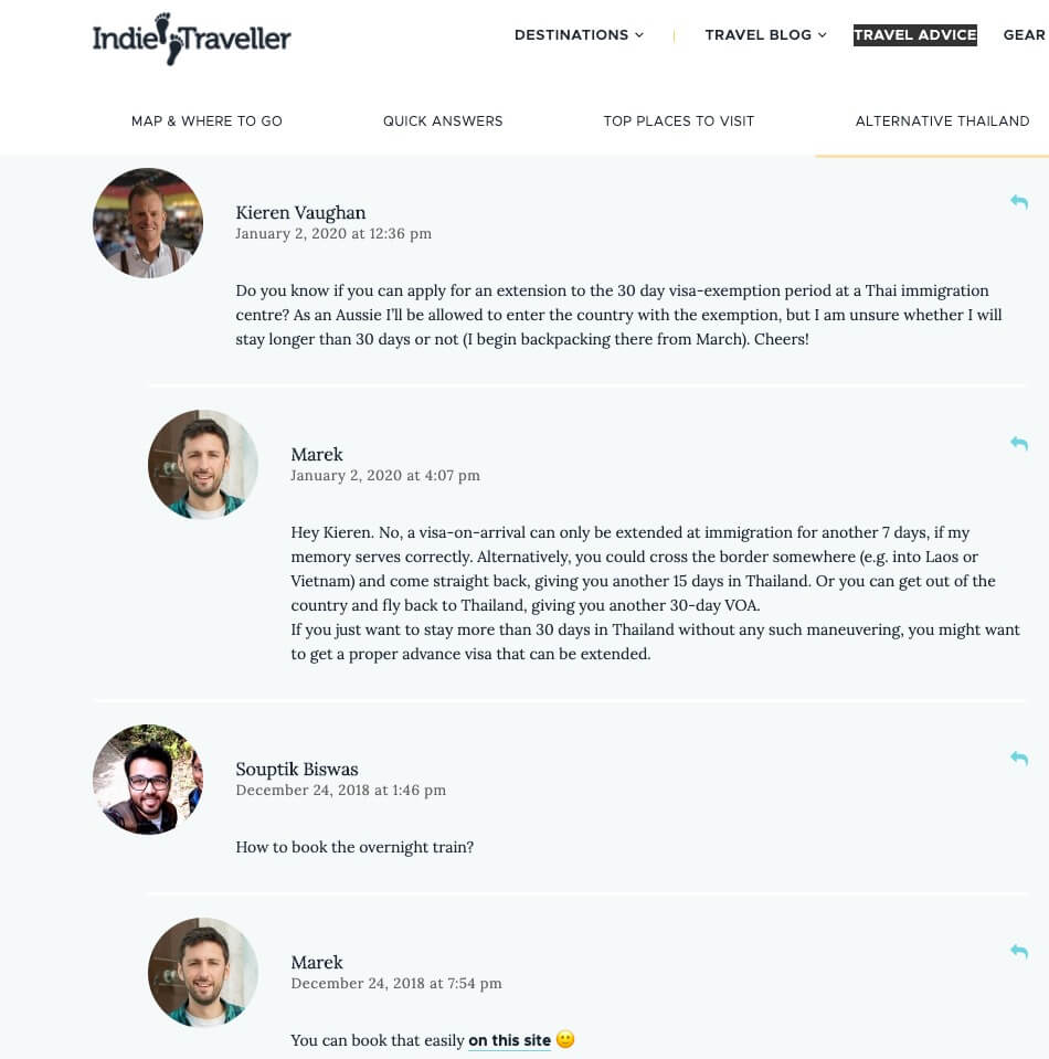 Screenshot of Blog Comments (to Find Your Target Audience) and Learn More