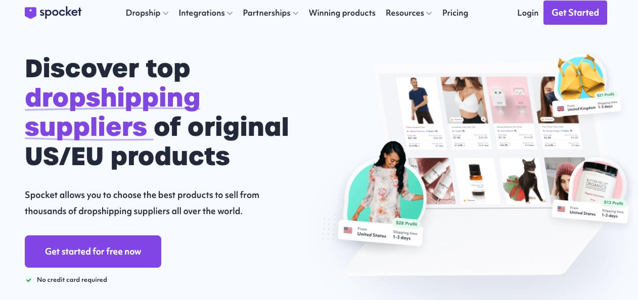 Spocket Affiliate Programs (Dropshipping Suppliers) for eCommerce Industry Bloggers