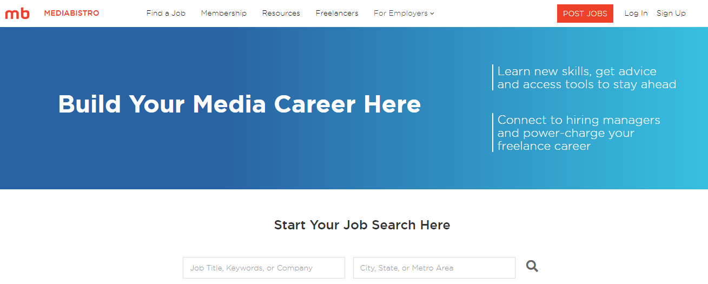 Media Bistro Homepage Screenshot