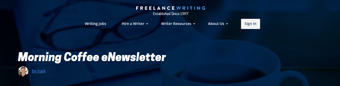 Morning Coffee Newsletter and Job Listings Email (Screenshot)