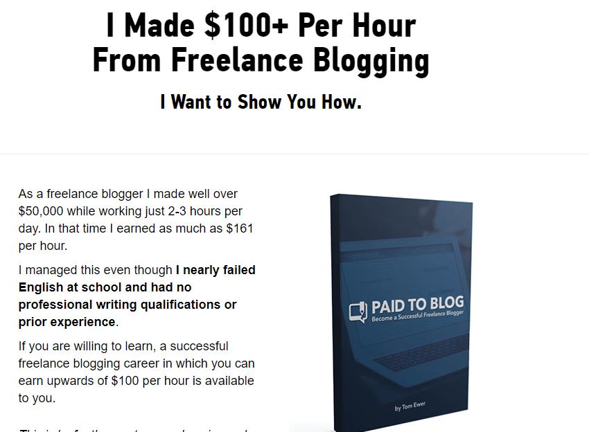 Paid to Blog (Jobs Site) Screenshot