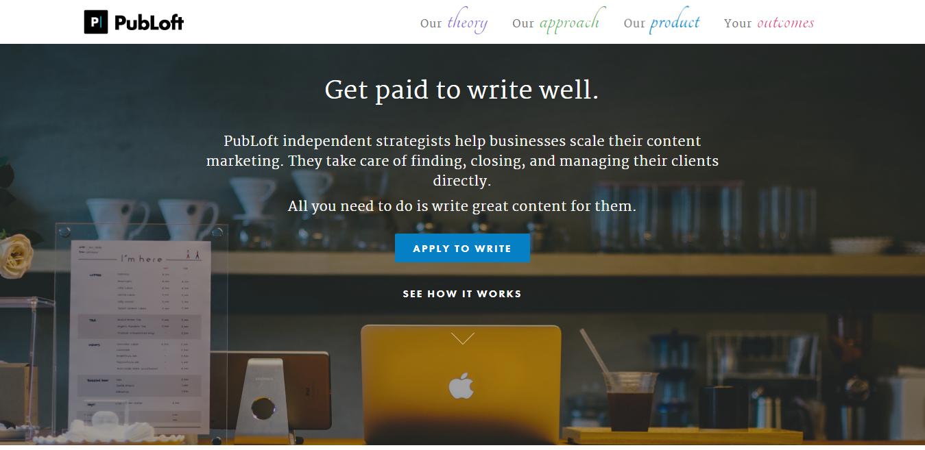 PubLoft Blogging Jobs Board (Screenshot)