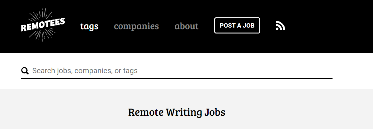 Remotees Screenshot of Open Remote Blogging Jobs