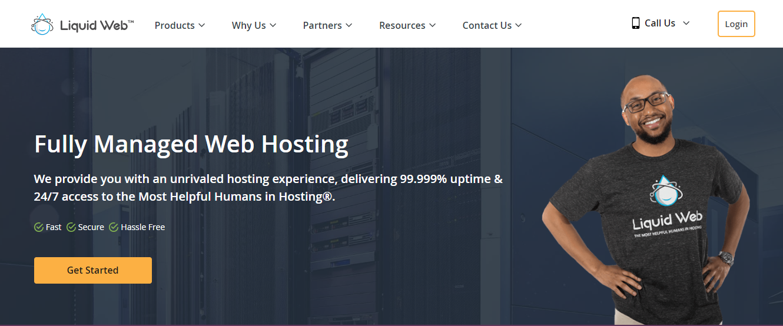 Liquid Web Homepage Screenshot (Fully Managed Web Hosting)