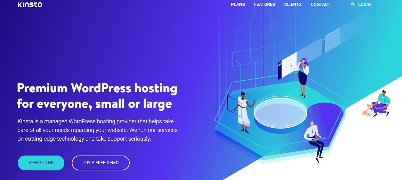 Kinsta Homepage Screenshot (Managed WordPress Hosting)