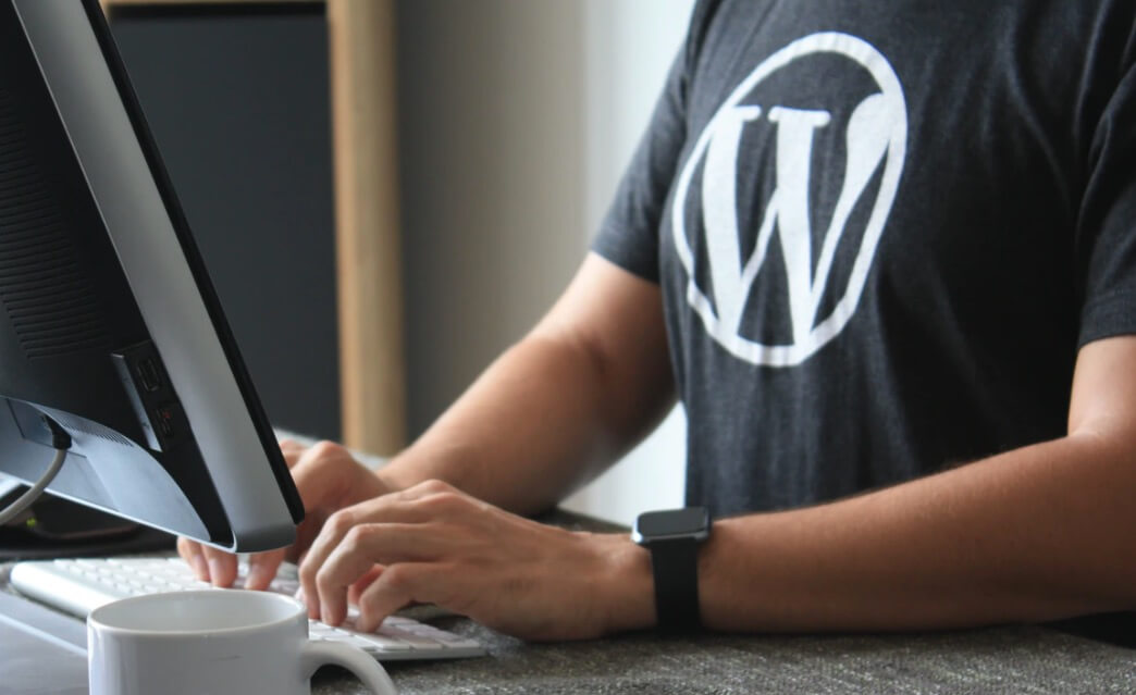 WordPress Blogger Typing (Photo)