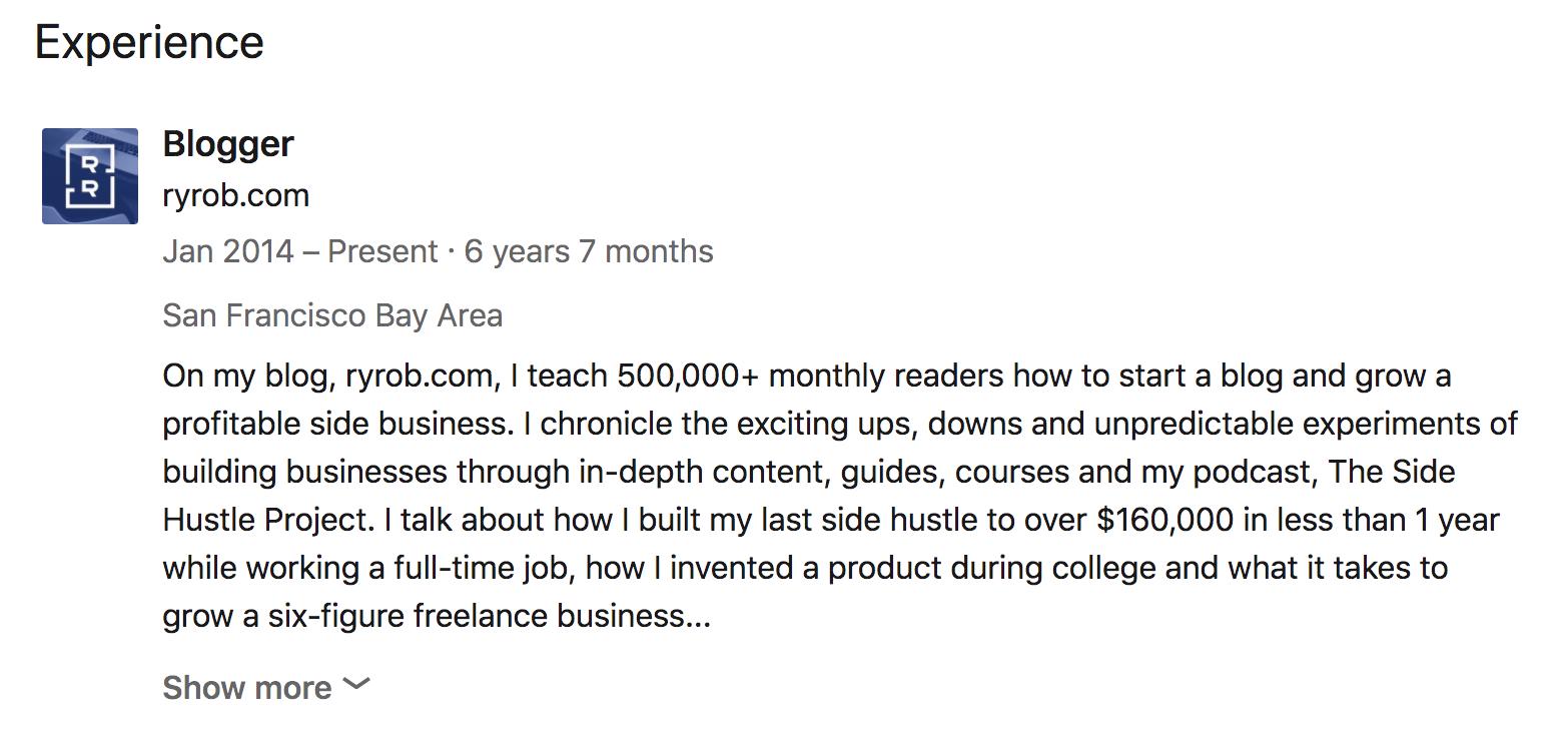 LinkedIn Company Description Example