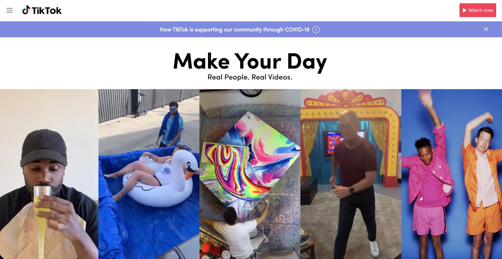 TikTok App Screenshot (for Blog Marketing Strategies)