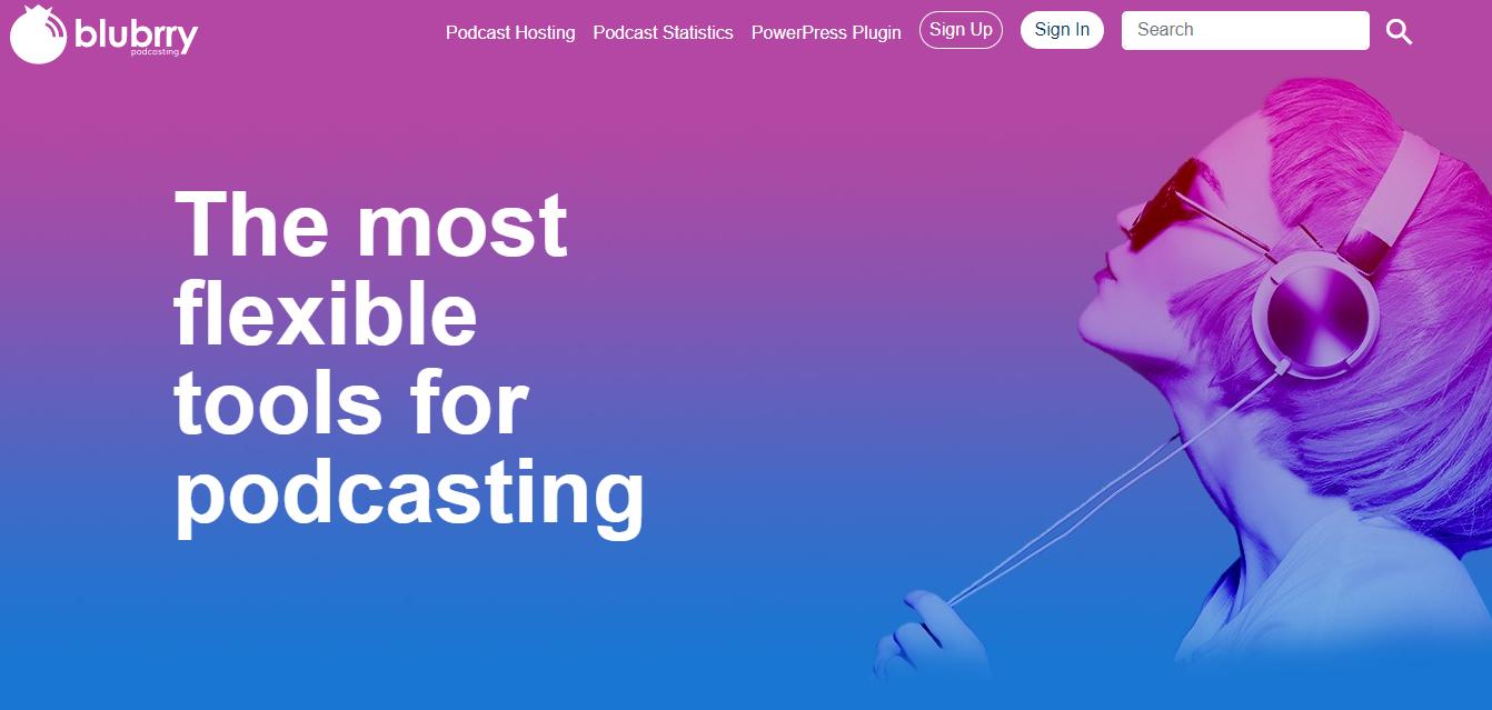 Blubrry Podcast Hosting Platform (Homepage Screenshot)