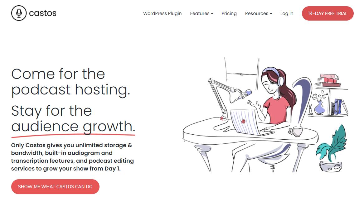 Castos Homepage Screenshot